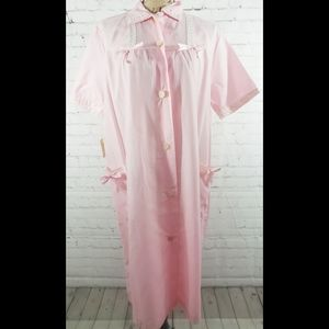 NWT Deadstock Vintage 40s Pink Mumu Night Gown